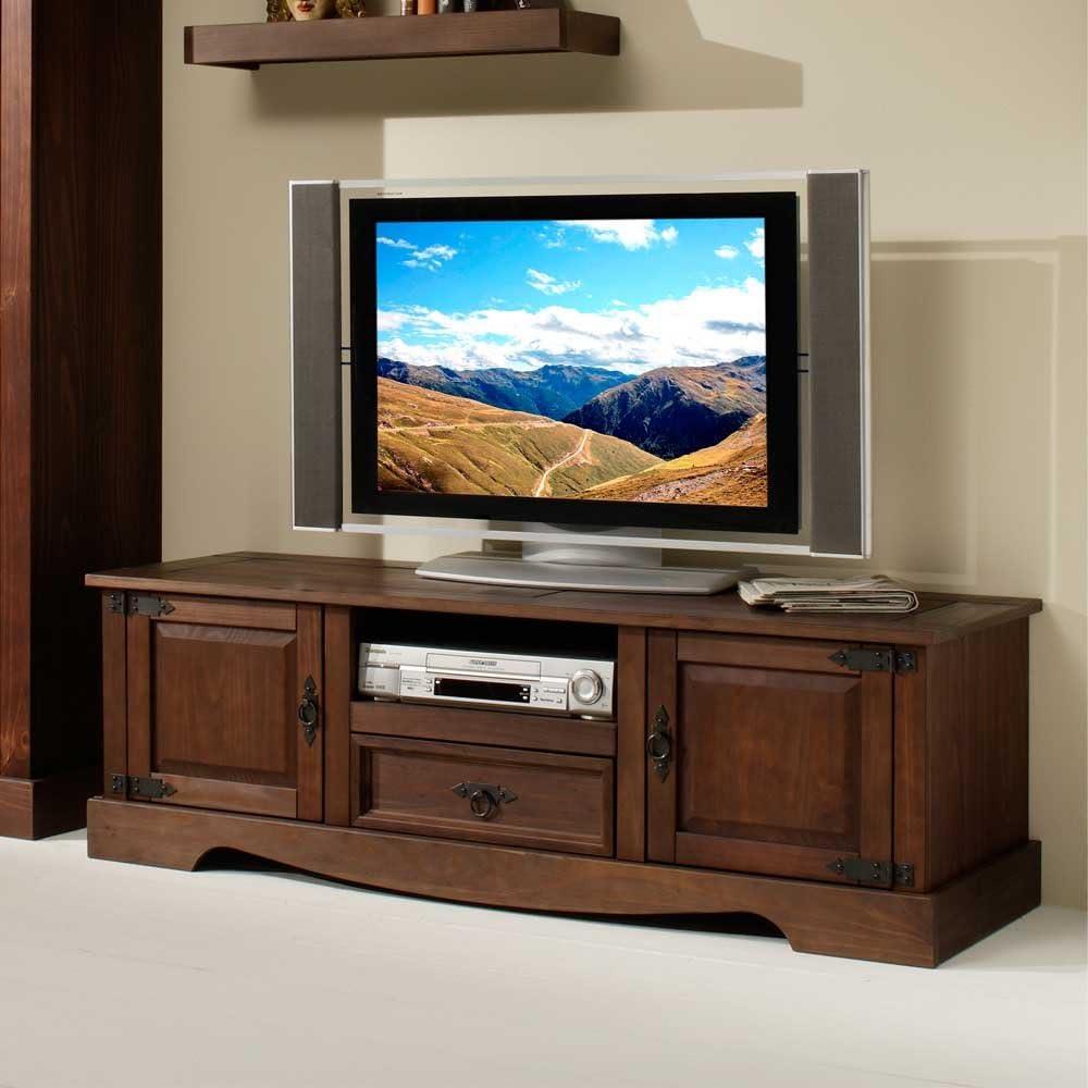 Mueble bajo TV de rack Mexico Pino Colonial Pharao24: Amazon.es: Juguetes y juegos