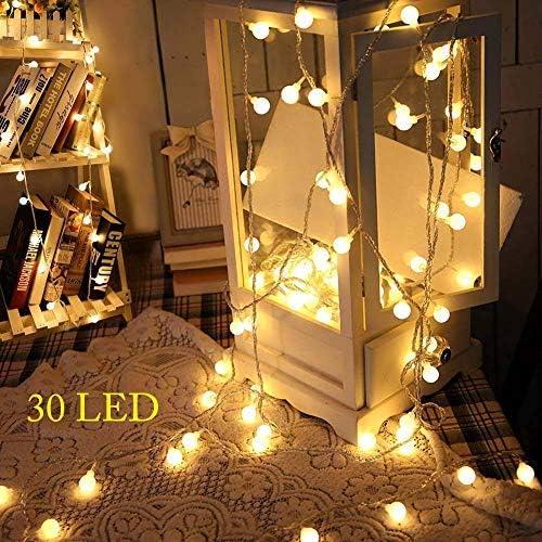 Cadenas luminosas, 30 LED 3metros Balón Guirnalda Luces Cadena de ...