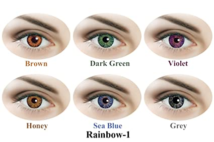 85ac35b2829 Buy Sparkle Daily Contact Lens - 12 Units (Rainbow1) Online at Low ...