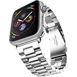 Apple Watch 金属ベルト Evershop 42mm 38mm ステンレス ベルト ビジネス風 時計バンド 腕時計ストラップ series 1 series 2 series 3 series 4対応(銀) apple watch バンド apple watch3 バンド