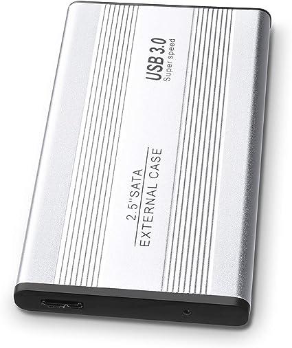 Xbox 360 PS4 1 to // 2 to 2 to Silver Xbox One Mac Disque Dur Externe Ultra Fin USB 3.0 Compatible avec PC Ordinateur de Bureau