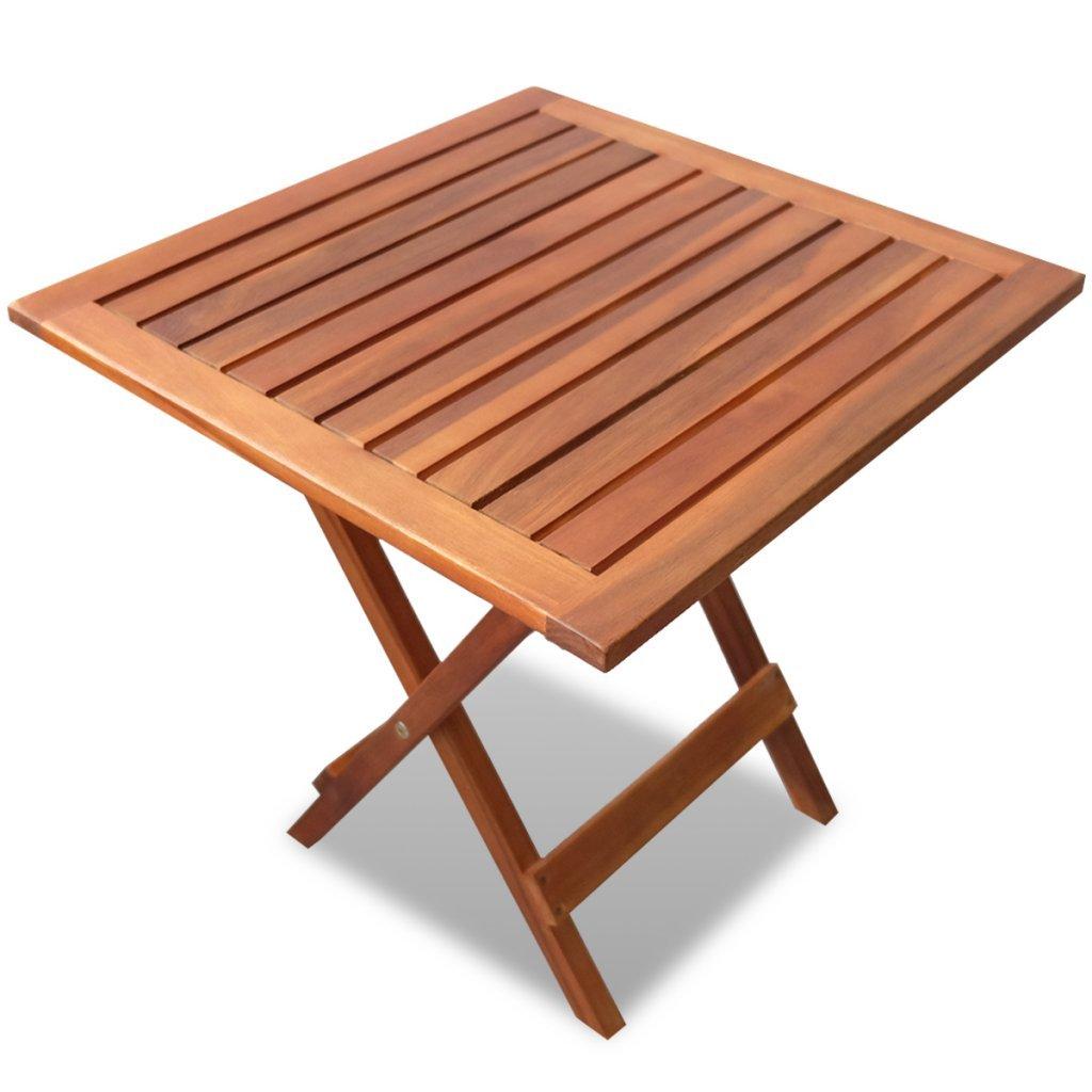 vidaXL Akazie Gartentisch Klappbar Beistelltisch Kaffeetisch Holztisch Balkon