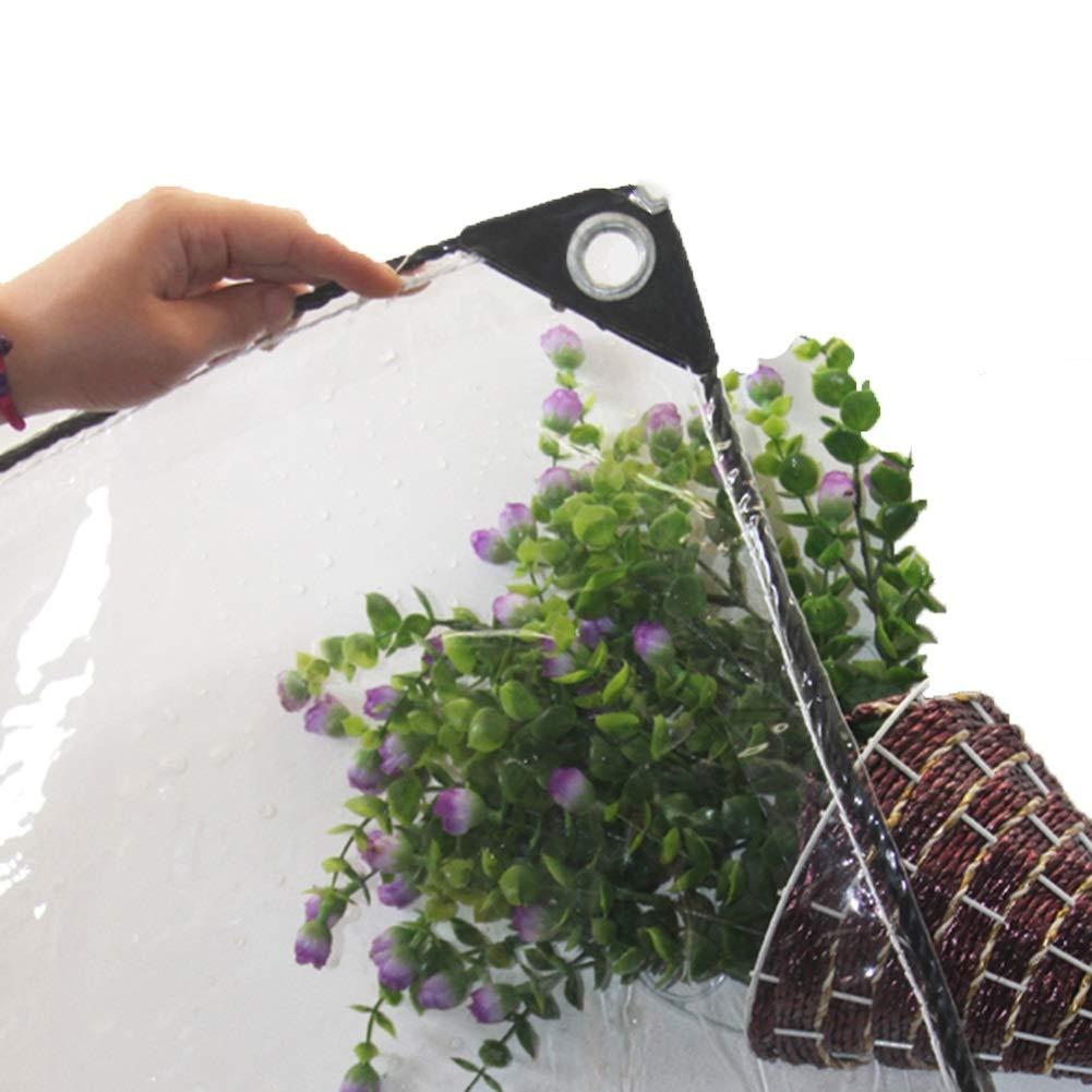 JNYZQ 0.5mm Starke PVC-klare Plane, Isolierungs-im Freienplanen-Boden-Blatt-Abdeckungen für Getreide Anlage Dach Winddicht g 420g   m² (größe   2×3 M)
