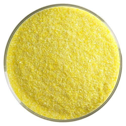Sunflower Yellow Opalescent Fusible Glass Fine Frit - 4oz - 90COE - Made From Bullseye Glass Bullseye Sunflower