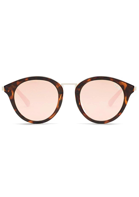Quay Australia X Nabilla Gotta Run Sunglasses in Tortoise Frame, pink Lens, One Size