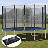 12FT Trampoline Combo Bounce Jump Enclosure Safety Net W/Spring Pad Ladder ,#G14E6GE4R-GE 4-TEW6W288932