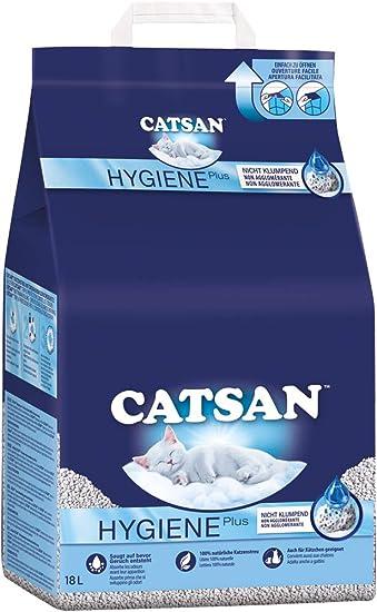 Catsan Hygiene Plus - Producto higiénico blanco con protección mineral extra - 1 x 18 litros: Amazon.es: Productos para mascotas