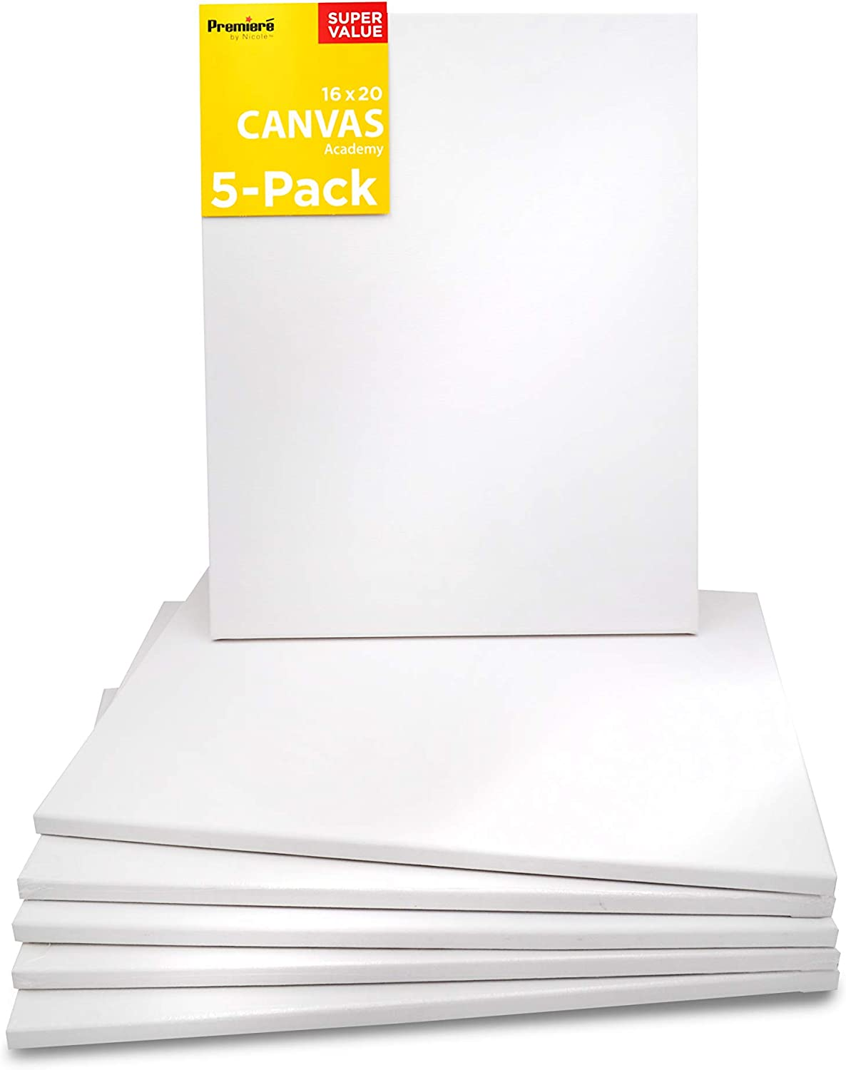 Plain Artist Canvas Frame White Board for Oil Painting Acrylic Stretched Art
