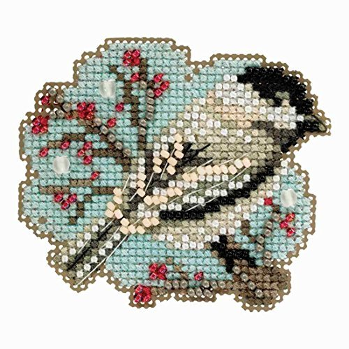 Little Chickadee Beaded Counted Cross Stitch Ornament Kit Mi