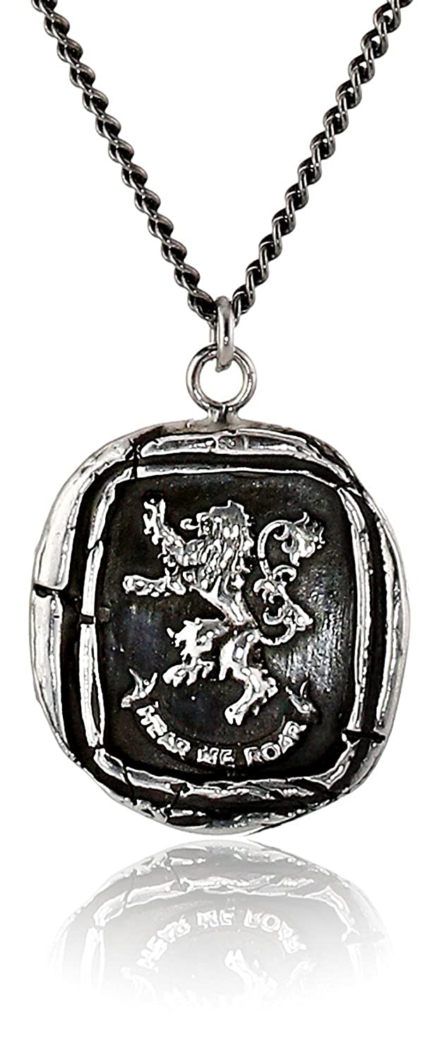 Pyrrha Unisex For HBO's Game of Thrones Silver House Lannister Necklace, 22