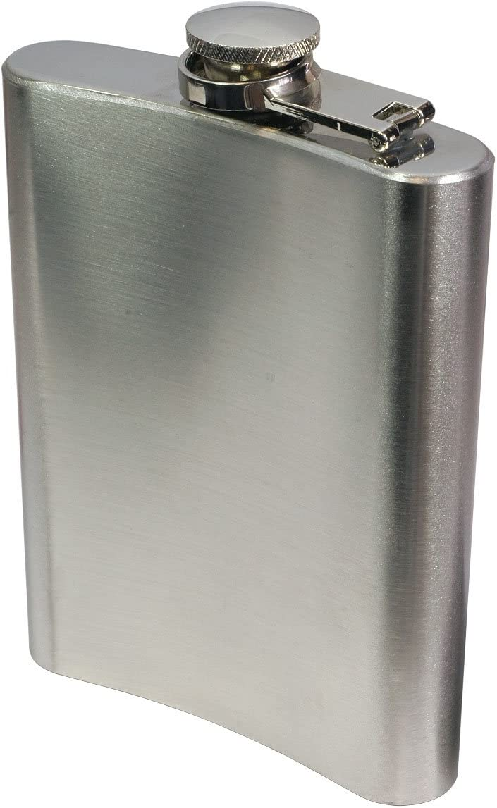 8oz Stainless Steel Flask And Funnel Set Kitchen Dining Spearhead Kitchen Utensils Gadgets