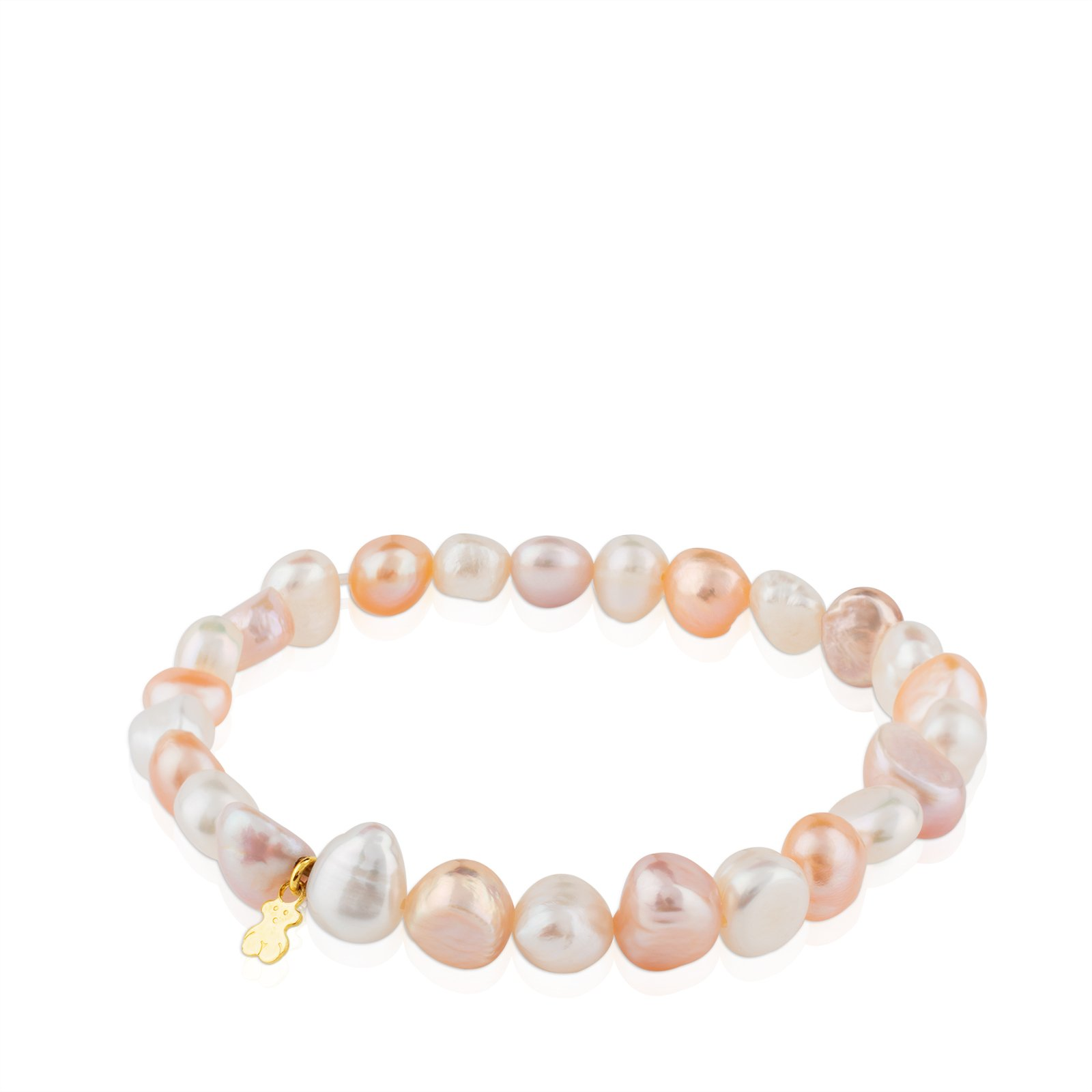 TOUS Pearls 18k Yellow Gold Stretch Bracelet with Multicolor Chinese Freshwater Cultured Pearl 7.0-7.5 mm by TOUS