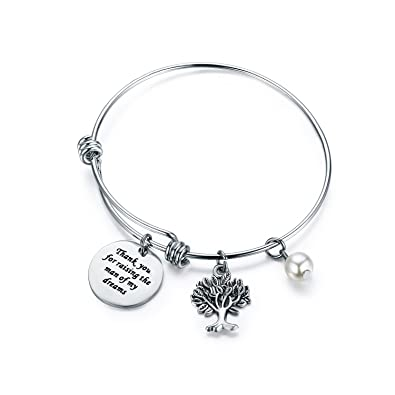 amazoncom cjm mother in law gift family tree bracelet thank you for raising the man i will take care of her always bracelet christmas gifts mothers