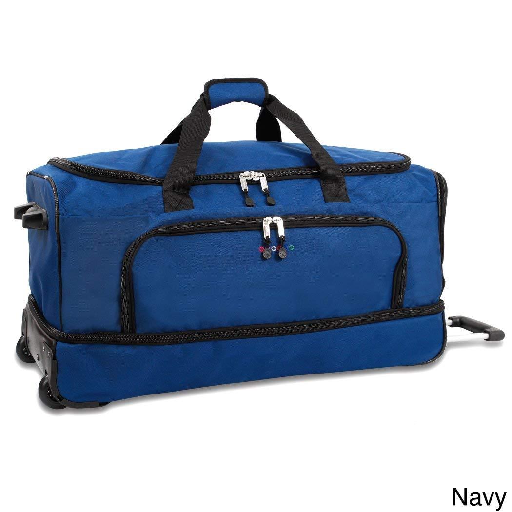 海軍ブルー30インチドロップ下部Softsidedローリングダッフルバッグ、ナイロン&ポリエステル   B01M7UZB6O