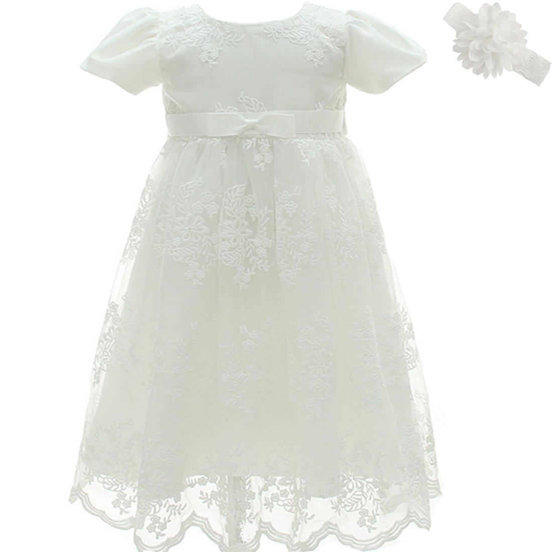 AHAHA Christening Baptism Long Dress Princess Wedding Formal Dress ZHHT388