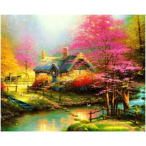 Lowprofile 5D DIY Diamond Painting Embroidery Full Square Diamond Home Decor Gift (A)