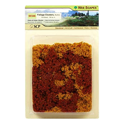 Wee Scapes Architectural Model Foliage Clusters Bushes (Fall Mixed) Pack of 150 sq. in.: Arts, Crafts & Sewing
