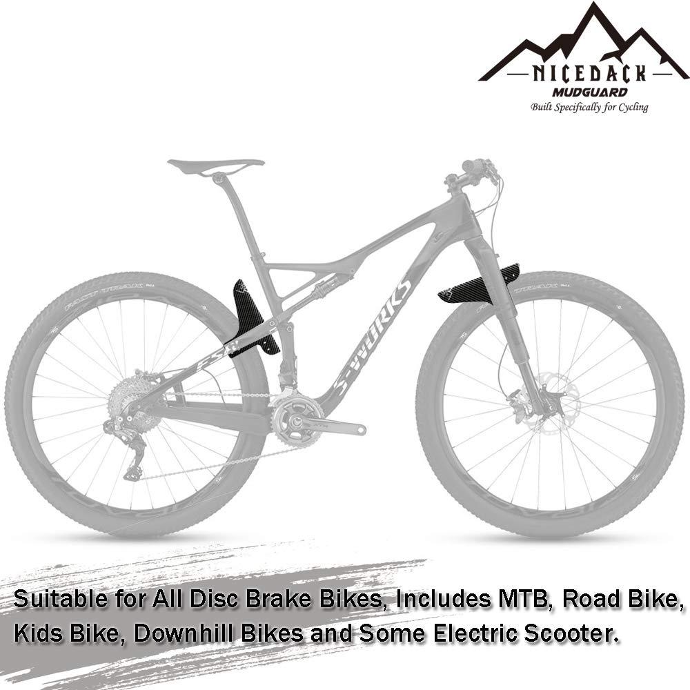 27.5 Passen 26 NICEDACK MTB Schutzblech Vordere und hintere kompatible Schutzbleche 29 Fat Tire Bikes und alle Scheibenbremsen Fahrr/äder Einstellbar Schutzbleche Mountainbike Spritzschutz