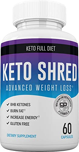 Keto Ultra Shred Diet Pills – Keto Advanced Weight Loss Fat Burners for Women and Men Keto BHB Salts to Burn Fat Fast on Keto Diet Ketogenic Keto Slim Supplement Exogenous Ketones – 60 Count