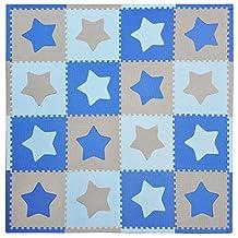Tadpoles Playmat Set 16-Piece Stars, Blue/Grey