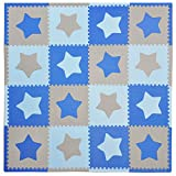 Tadpoles Playmat Set 16-Piece Stars, Blue/Grey