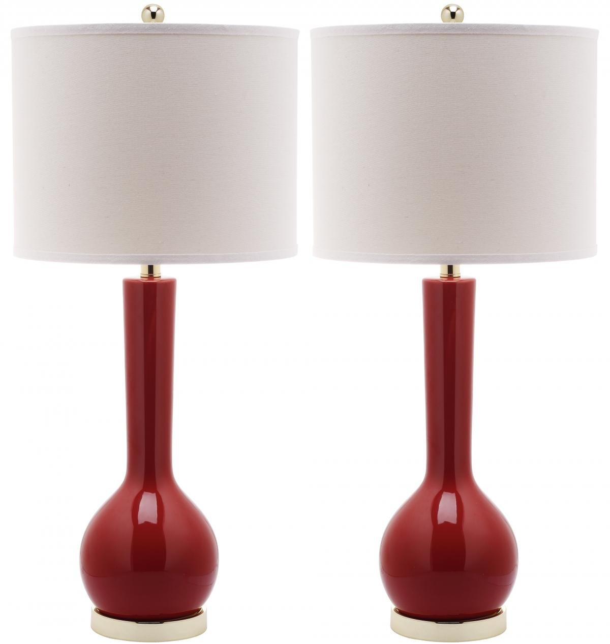 Delightful Amazon.com: Safavieh Lighting Collection Mae Long Neck Ceramic Table Lamp,  Blood Orange, Set Of 2: Home U0026 Kitchen