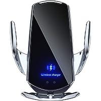 [Versão atualizada] Carregador de carro sem fio, suporte de telefone para carro com fixação automática Qi 15 W…