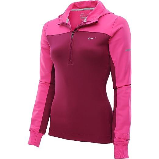 4db469366833 Nike Thermal Half-Zip Women s Running Hoodie at Amazon Women s Clothing  store
