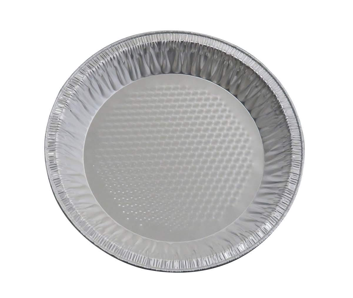 KitchenDance Disposable Aluminum Quilted Bottom Pie Pans (100, 9-5/8'' Rim to Rim)