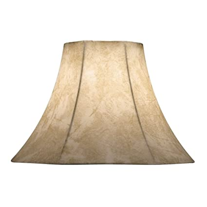 Faux Leather Bell Lamp Shade With Spider Assembly Lamp Shades