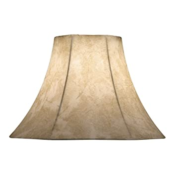 Faux Leather Bell Lamp Shade With Spider Assembly