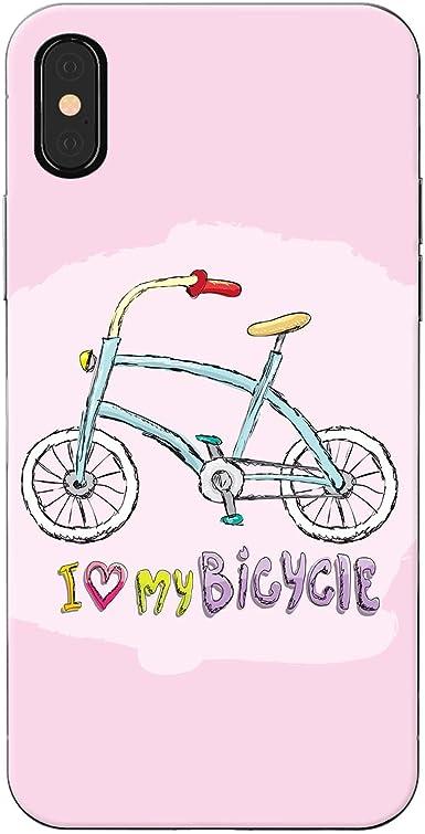 I Love mi bicicleta/Carcasa rígida para teléfono de corazones y ...
