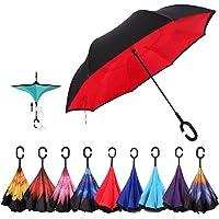 Gorgebuy Paraguas inverso - Paraguas invertidos de Doble