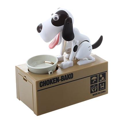 Sodial R Cane Robotico Cucciolo Affamato Segugio Mangiare Banca