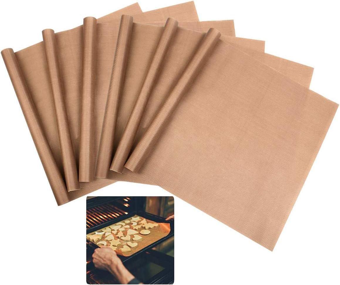 6pcs PTFE Teflon Sheet for Heat Press Transfer Sheet Non Stick 1216inch Heat Transfer Paper Reusable Heat Resistant Craft Mat