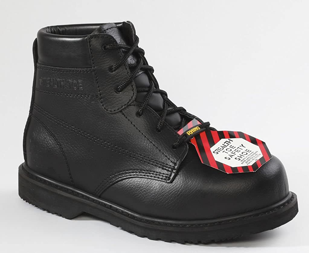 6ps01 – Rhino 6 Inch Composite toeleather Safety Boot – ブラック B00BXV161C 6.5 D(M) US