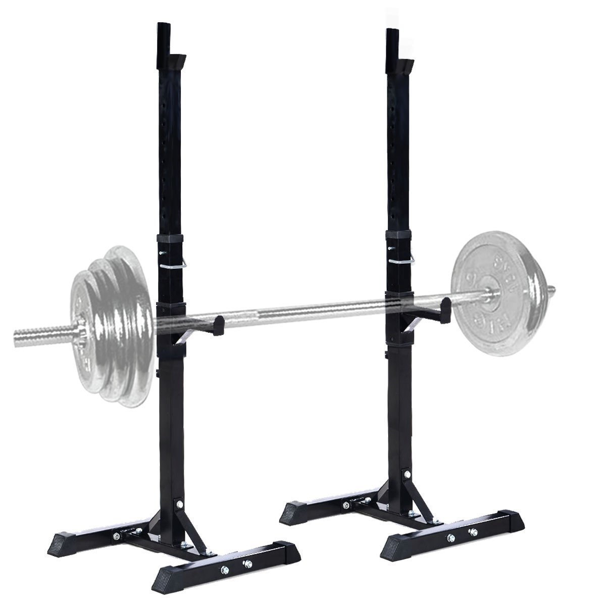 Gymax Adjustable Weight Dumbbell Barbell Rack Fitness Weight Lifting Gym Barbell Squat Rack Stand for men women by Gymax