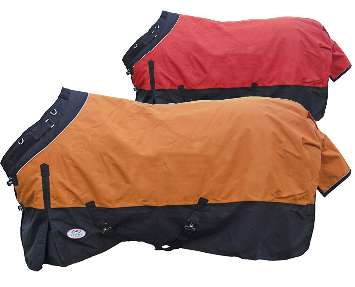 Derby Originals Windstorm Series Premium Horse and Draft Winter Turnout Rain Sheets with 1200D Ripstop Waterproof Nylon Exterior and Soft 210T Lining