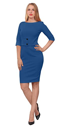 Marycrafts Womens Classy Vintage 50s Work Office Wiggle Pencil Dress