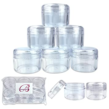 e62f418e1c22 Beauticom 12 Piece 30g/30ml USA Acrylic Round Clear Jars with Lids for  Creams, Lotions, Make Up, Cosmetics,...