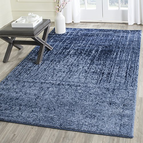 (Safavieh Retro Collection RET2770-6065 Modern Abstract Light Blue and Blue Area Rug (4' x 6'))