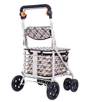Andador para silla de ruedas, carro, con asiento tapizado ...