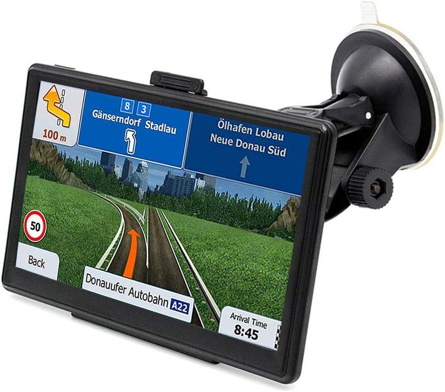 Amazon Com 7 Inch Car Gps Navigation System Touch Screen Portable Navigation Built In 8gb Memory Sat Nav Navigator With 2018 Preload Us Lifetime Maps Free Update Driving Alerts Gps Navigation