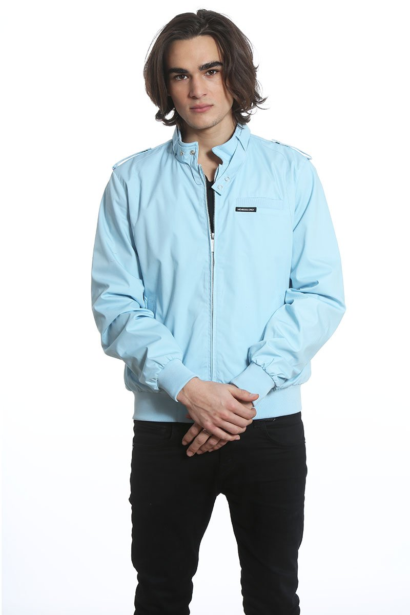 Members Only Men's Original Iconic Racer Jacket, Light Blue, XXL by Members Only