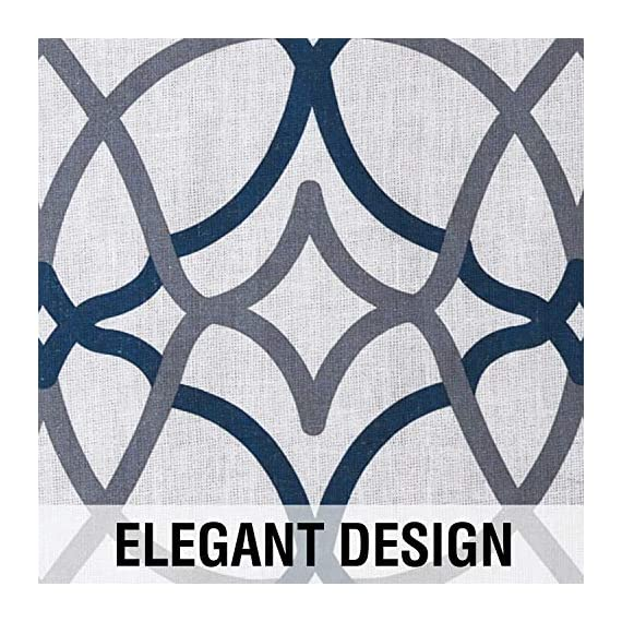 """H.VERSAILTEX Natural Linen Printed Curtains for Living Room/Bedroom 