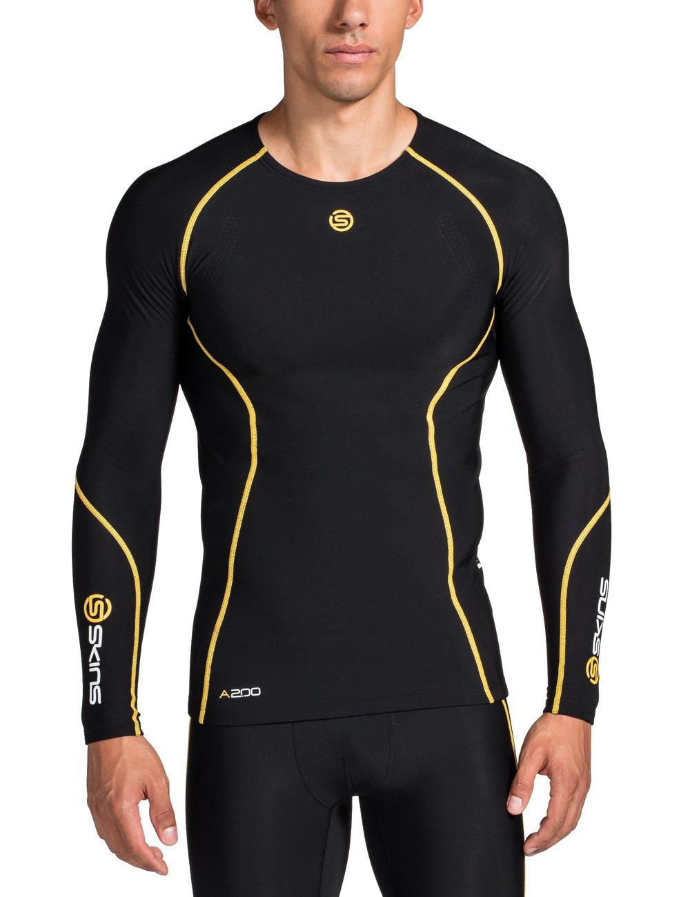 Skins Herren A200 Thermal Mens Long Sleeve Top RoundNeck