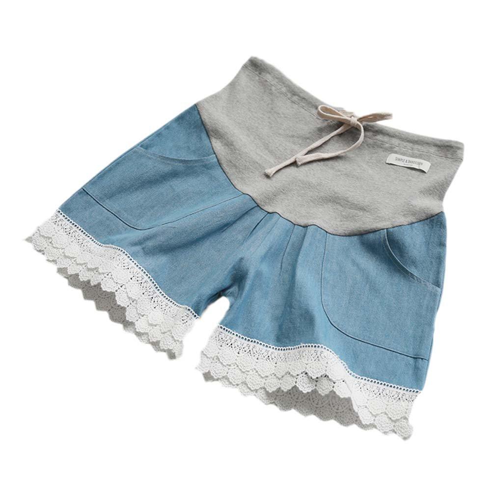 Pantalones cortos ocasionales de la elevación del estómago del dril de algodón flojo de las mujeres embarazadas del verano