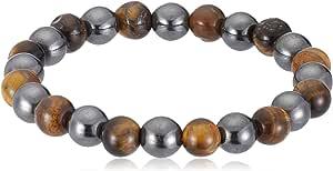 Power Unisex Magnetic Hematite and Tiger Eye beads Bracelet