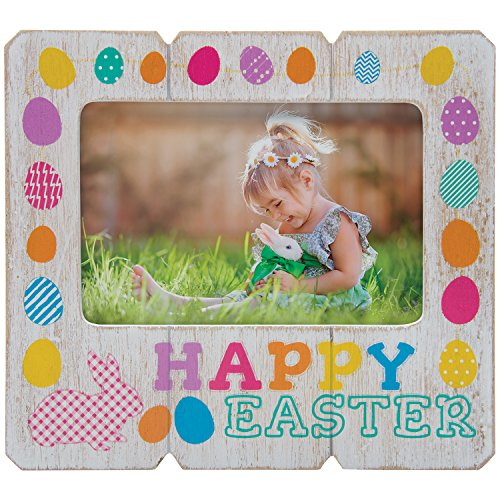 (Neil Enterprises, Inc Happy Easter Wood Picture Frame )