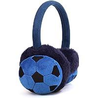Orejeras de invierno suaves para niños con diseño de bordado tridimensional de la Copa del Mundo, para niños pequeños…